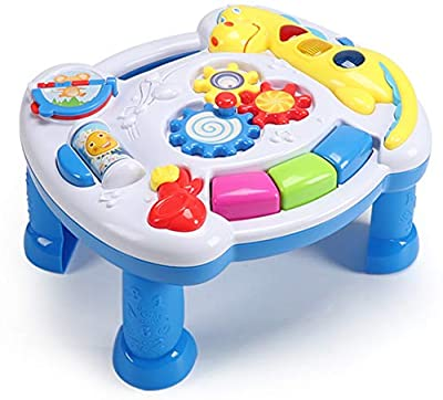 YMDLY Toys Up- Early Education Activity Center Musical Learning Table Multiple Modes Game Toys Kids Toddler Infant Boys & Girls Toys for 1 2 3 Years Old Gifts