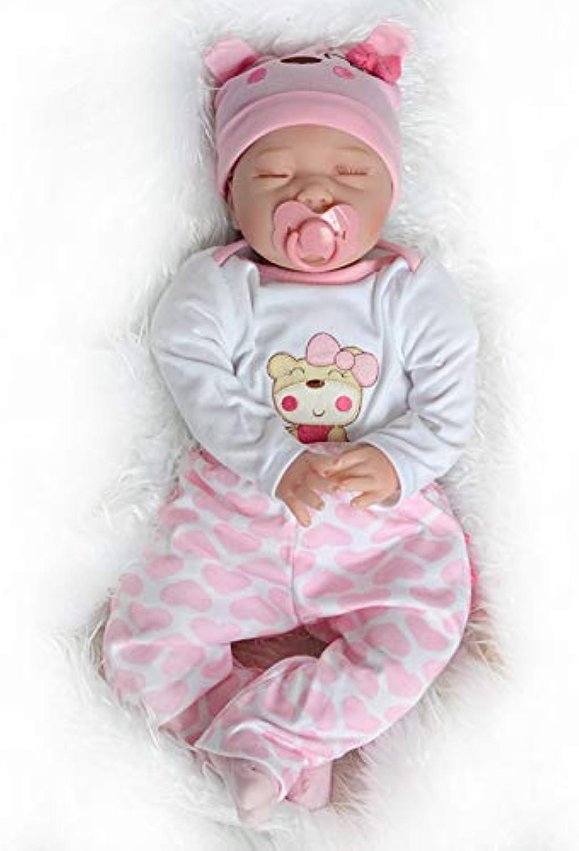 nueva marca 50-55cm bebé renacimiento muñeca niña niña niña silicona realista Niño dormido muñeca niña juguete ojos cerrados recién nacido  al precio mas bajo
