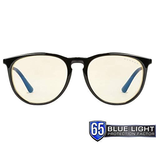 Gunnar Optiks MEN-00101 Gaming- und Computerbrille – Patentiertes Objektiv, reduziert die Belastung der Augen, blockiert 65 % des schädlichen blauen Lichts, bernsteinfarbene Linse, PC/Mac/Linux
