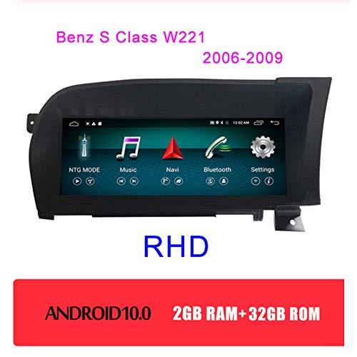 Tlyd 10.25 Zollandroid 10.0 GPS-Navigationssystem Für Benz S-Klasse W221 W216 2005-2013 Unterstützung 4G / WiFi/Bluetooth/Lenkrad-Steuerfunktion,RHD,2+32GB