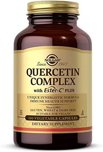 Solgar Quercetin Complex with Ester-C Plus, 100 Vegetable Capsules - Supports Immune Health, Antioxidant - Gentle on the Stomach Vitamin C - Non-GMO, Vegan, Gluten Free, Dairy Free - 50 Servings