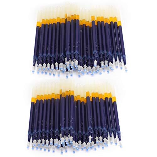 Recambio de rotulador de tela, 100 piezas de recambio de rotulador de tela, accesorio de ropa, herramientas a medida para desvanecimiento a alta temperatura(Azul)