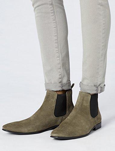FIND Herren Chelsea Boots Rauleder, Braun (Stone) - 3