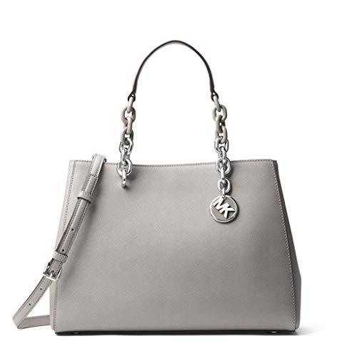 "100% Saffiano Leather, Acetate/Silver-Tone Hardware 12.25""W X 9""H X 5.25""D Handle Drop: 6"", Adjustable Strap: 18""-20.5"" Interior Details: Back Zip Pocket, 2 Back Slit Pockets, 4 Front Slit Pockets, Center Zip Compartment"