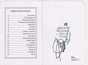 JOHN DALY Signed Augusta National Scorecard R51009 - JSA Certified - Autographed Golf Scorecards