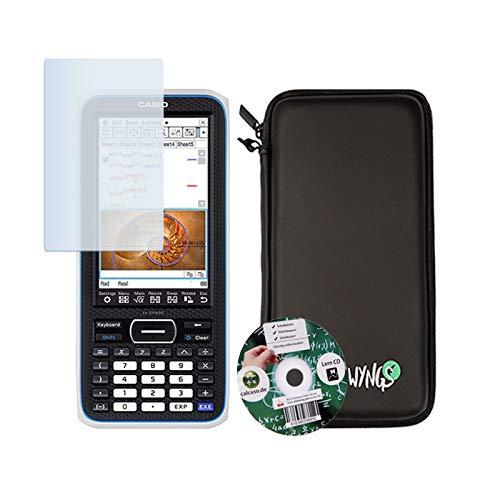 Casio Classpad II (FX-CP 400) + Displayschutzfolie + Lern-CD (auf Deutsch) + WYNGS Schutztasche