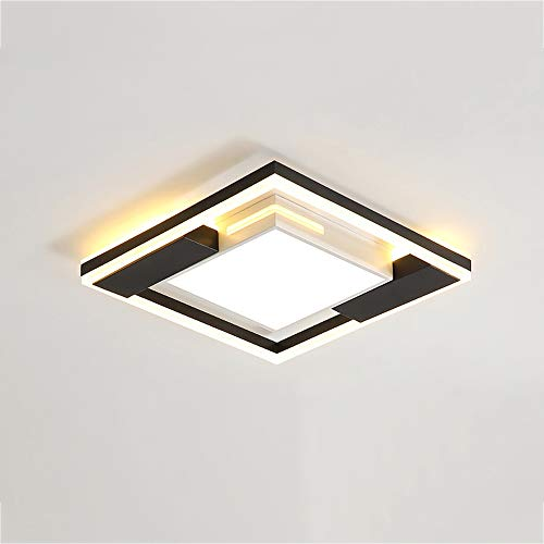 Luz de techo Moderno Plafón 30W LED Regulable Interruptor de pared Square...