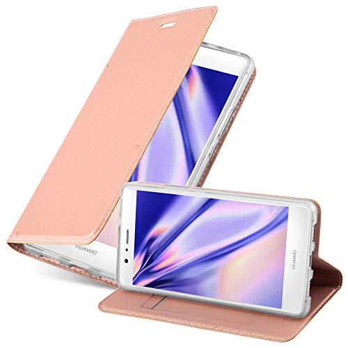 Cadorabo Funda Libro para Huawei P9 Lite en Classy Oro Rosa - Cubierta Proteccíon con Cierre Magnético, Tarjetero y Función de Suporte - Etui Case Cover Carcasa