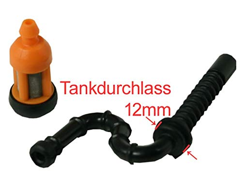Sägenspezi Kraftstoffschlauch neues Modell + Benzinfilter/Sägenspezi Kraftstofffilter Set passend für Stihl 026 MS260 MS 260