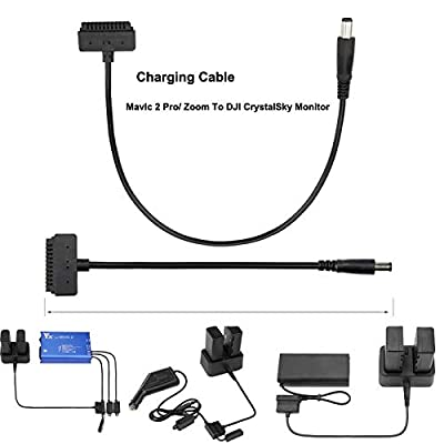 RC Drone Cable,for DJI Mavic 2 to CrystalSky Monitor 5.5/7.85inAdapter Charger Charging Cable
