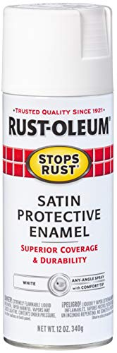 Rust-Oleum 7791830 Satin Enamel Spray, 12-Ounce, White