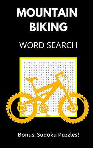Mountain Biking Word Search: Puzzle Book for Adults and Teens with Solutions