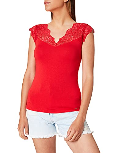 Morgan Tshirt Deno Camiseta, Orange, XS para Mujer