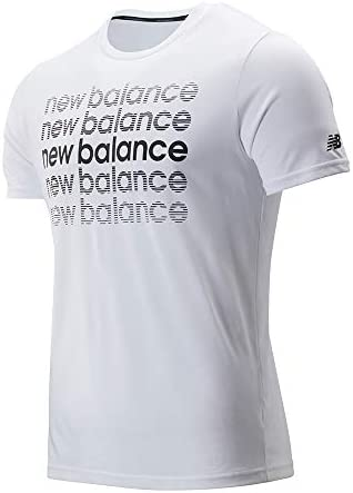 New Balance Graphic Heather Tech SS tee Camiseta para Hombre