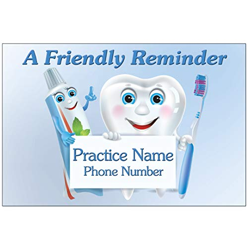 Appointment Reminder Postcards for Dentists Customize Card Front and Back with Practice Info. 4