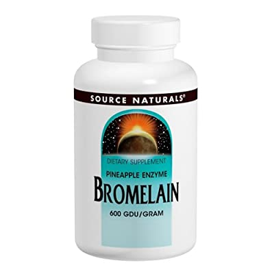 Source Naturals Bromelain 500mg Proteolytic Enzyme Supplement - 60 Tablets (Pack of 2)