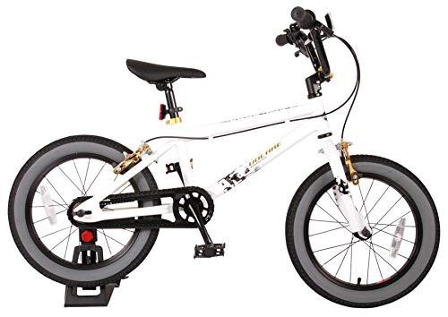 Bici Bicicletta Bambino 16 Pollici Cool Rider Freni al Manubrio Bianco 95% assemblata