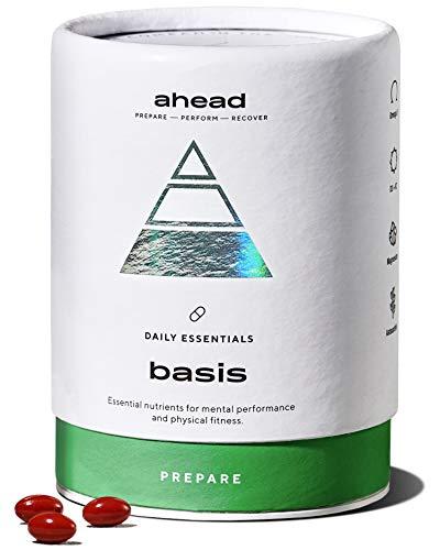 ahead BASIS   Kapseln mit Vitamin D3 + K2 + Omega 3 + Magnesium hochdosiert - Daily Essentials O3-D3-K2-MG - Premium Fischöl in Triglycerid Form mit Astaxanthin und Pfefferminzöl gegen Fischgeschmack