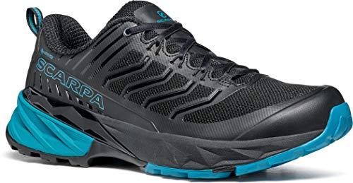 Scarpa Rush GTX, Zapatillas de Trail Running Hombre, Black-Ottanio Gore_Tex SHC Free-Dome, 44 EU