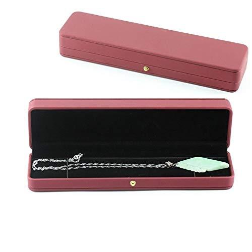Pendientes de cuero Joyero Nuevo producto Hebilla creativa Caja de joyería de cuero Anillo Colgante Pulsera Collar Caja de almacenamiento-rojo