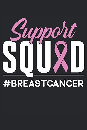 Escuadrón de apoyo #Cáncer de mama: Cáncer de cuaderno rayado |Diario de cáncer |Revista de quimioterapia |Libro de registro de la historia del cáncer |Conciencia del cáncer de mama