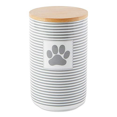 Bone Dry DII Paw Patch & Stripes Ceramic Pet Collection, Gray