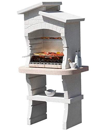Barbecue in muratura Sunday Modello Nairobi New Funziona con carbonella e Legna