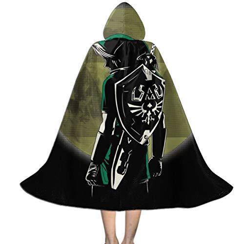KUKHKU Zelda Legendary Hero - Capa con capucha para niños, unisex, para Halloween, Navidad, fiesta, disfraces, disfraces