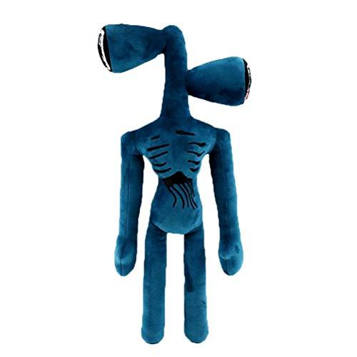 BASOYO Peluche de Cabeza de Sirena - Peluche de Cabeza de Sirena de 35 cm - Muñecos de Peluche - Mini muñecas de Juguete - Regalos para niños - Regalo de Juguetes creativos - Regalos para fanáticos