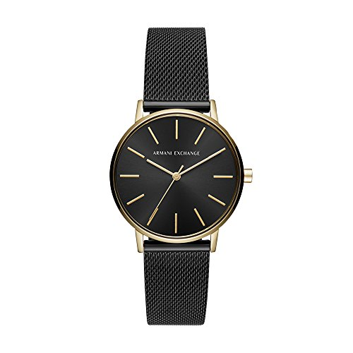 Emporio Armani Damen Analog Quarz Uhr mit Edelstahl Armband AX5548