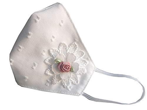 Accesorio comunión niña blanca plumeti con flor y encaje blanco