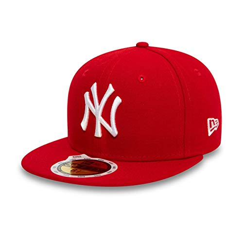 New Era 59Fifty Fitted Kids Cap - NY Yankees, Rot/Weiss, 53cm