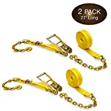 Best Ratchet Straps - Two 2-in. X 27-Ft. Heavy-Duty Ratchet Straps Review