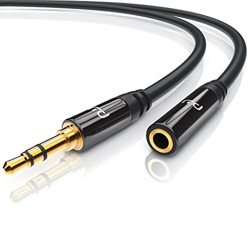 CSL Aux Kabel 3.5mm Audio Kabel 1m Klinkenkabel Verlängerung 3,5mm Audiokabel für Smartphones Apple iPhone iPad Tablets Auto Kopfhörer Echo Dot KFZ Stereoanlagen MP3 Player