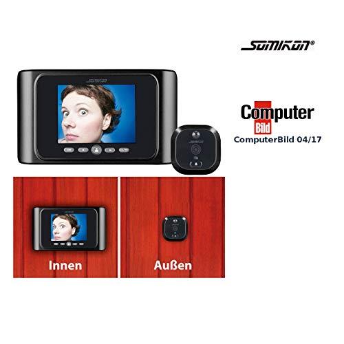 Somikon Elektronischer Türspion: Digitale Türspion-Kamera mit Bewegungserkennung (Türspion Kameras)