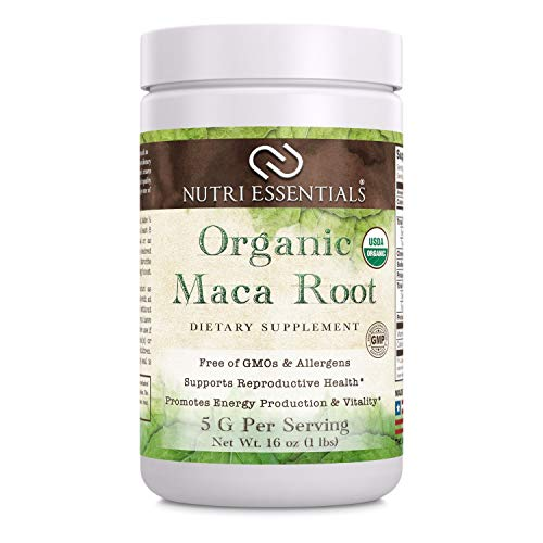 Nutri Essentials Organic Maca Root Powder 16 Oz - Supports Reproductive Health - Supports Energy Production & Vitality