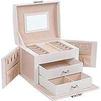 Songmics UJBC154W01 Compact Jewelry Organizer with 2 Drawers