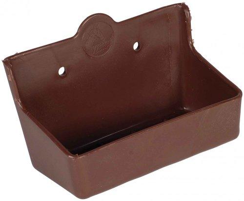 Stabiler LECKSTEIN-HALTER aus Kunststoff *für 2 kg Lecksteine* BRAUN