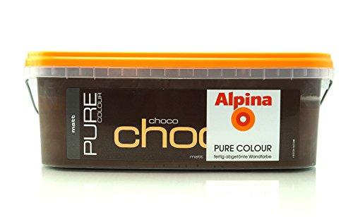 ALPINA Pure Colour, 2,5 L. Wandfarbe, Choco Matt /Ausreichend für ca.20-25m2