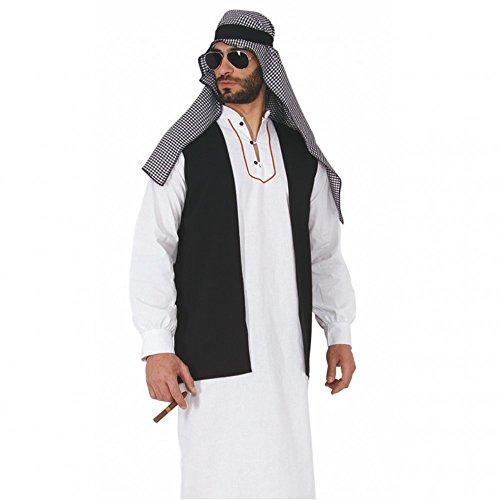 Mortino Disfraz de jeque árabe, túnica, desierto, arabe, tuareg (M)
