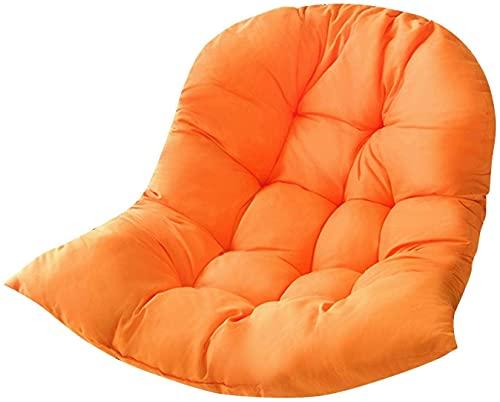 ZBF Silla de Huevo Swing Hamaca Cojín Colgando Cesta Cuna Rocking Silla Cojín Jardín Al Aire Libre Decoración para el hogar sin Silla de Swing (Color : Orange)