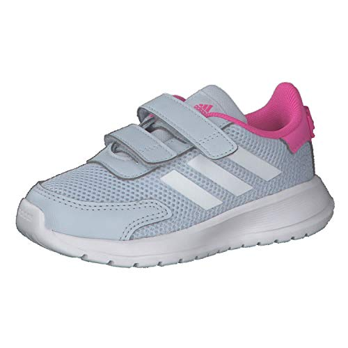 adidas Boy's Unisex Kids TENSAUR Run I Gymnastics Shoe, Halo Blue FTWR White Screaming Pink, 4 UK Child