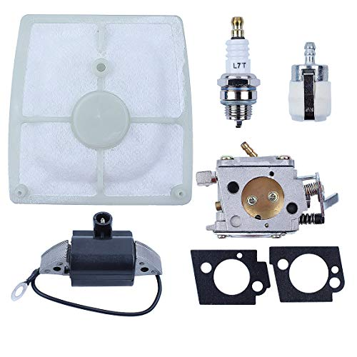 Haishine Vergaser Zündspule Magneto-Luftfilter-Kit für STIHL 041, 041AV, 041 Farm Boss Kettensägenersatzteile 11101200609 11104043200
