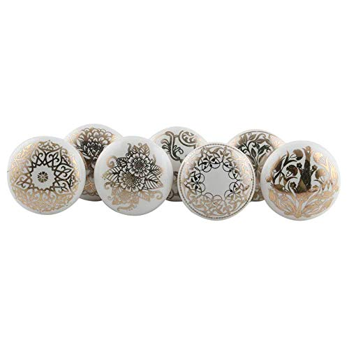 Handmade Assorted Pack of 30 Artistic Golden Floral Drawer Knobs Dresser Pulls Cabinet Furniture Handles Design