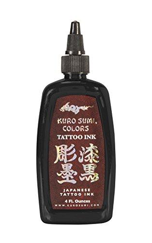 Kuro Sumi Tattoo Ink, Double Sumi Tribal Black, 4 Ounce