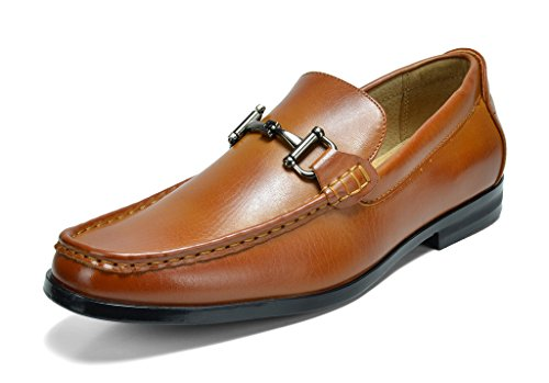 Bruno Marc Men's Harry-01 Tan Dress Penny Loafers Shoes – 10 M US