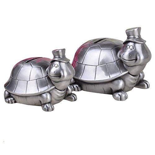 QQA 1PC Schildkröte Sparschwein Metall Münze Kann Spielzeug Geschenke Geburtstag Für Kinder Spardose Ornamente,13X11.3X9.5CM