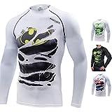 Khroom T-Shirt de Compression de Super-héros pour Homme | Vêtement Sportif à Séchage Rapide pour Fitness, Gym, Course, Musculation | Matériel Extensible et Ventilé Anti Transpiration (Batman, XXL)