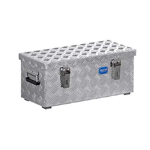 ALUTEC Alu-Transportkiste Riffelblech - 37 l Inhalt - LxBxH 622 x 275 x 270 mm - Alu-Box Alu-Boxen Alu-Kiste Alu-Kisten Alu-Transportbox Alu-Transportboxen Alu-Transportkiste Alu-Transportkisten Kiste für Pritsche Kisten für Pritsche Pritschenbox
