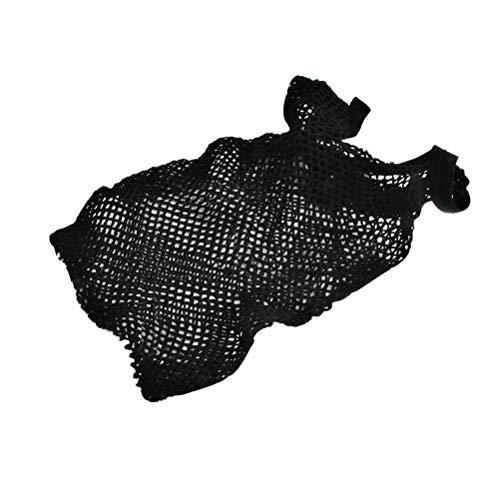 Élastique Unisexe Bas De Perruque Liner Cap Snood Nylon Stretch Maille Filet Résille Résille Elastique Perruque Casquettes (Noir)